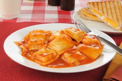 Ravioli with tomato sauce Royalty Free Stock Image