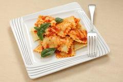 Ravioli and tomato sauce Royalty Free Stock Photo
