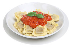 Ravioli with Tomato Sauce Royalty Free Stock Photo