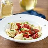 Ravioli in tomato sauce at dinner. Stock Photography