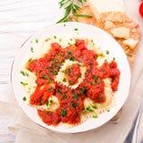 Ravioli with Tomato Sauce Stock Photos