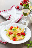 Ravioli with tomatoes Royalty Free Stock Photography