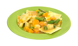 Ravioli Vegetables On Plate Side Stock Images