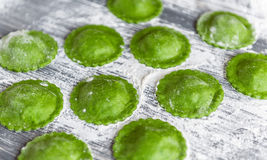 Ravioli verde delicioso Foto de Stock Royalty Free
