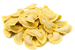 ravioli on white background Stock Photo
