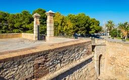 Ravissez la porte de San Fernando Castle dans Alicante, Espagne Photos stock
