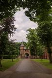Ravissez la porte et le mur de château de De Haar Castle Photographie stock