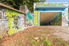Ravissez le passage souterrain sous la station de train d'Adamov, République Tchèque images stock