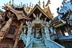 Ravissez une partie de sanctuaire de la vérité à Pattaya Image libre de droits