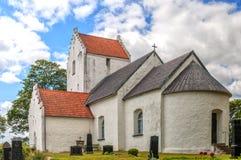 Ravlunda教会在瑞典 免版税库存图片