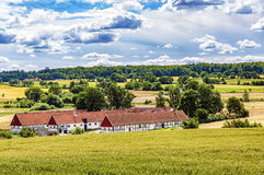 Ravlunda Farm. Image of a traditional swedish famrhouse. Ravlunda, Osterlen Stock Images