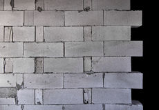 Raw AAC autoclaved aerated concrete wall, front view,  background. Stock Images