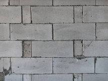 Raw AAC autoclaved aerated concrete wall, front view,  background. Royalty Free Stock Photos