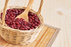 Raw adzuki red beans Stock Photos