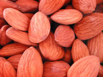 Raw Almonds. Close up of raw almonds Stock Photography