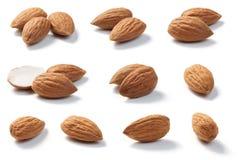 Raw Almonds Royalty Free Stock Photos