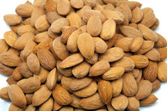 Raw almonds Stock Images