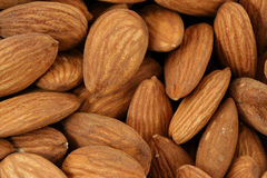 Raw Almonds background Royalty Free Stock Photography