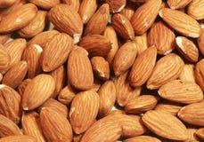 Raw almonds background Royalty Free Stock Photos