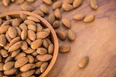 Raw Almonds Stock Photography