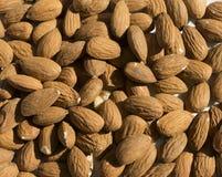 Raw almonds full frame Stock Photos