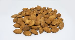Raw Almonds - healthy nut royalty free stock photos