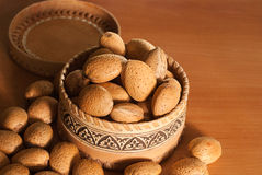 Raw almonds l Royalty Free Stock Photo