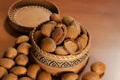 Raw almonds l Stock Images