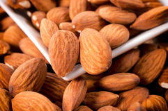 Raw almonds Stock Image