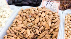 Raw almonds Stock Photo