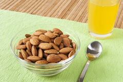 Raw Almonds Snack Royalty Free Stock Images