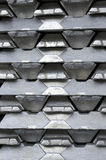 Raw aluminum ingots Royalty Free Stock Photos