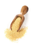 Raw amaranth seeds on wooden scoop Royalty Free Stock Photos