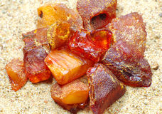 The raw amber Royalty Free Stock Image