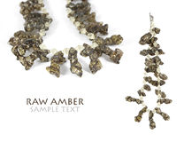 Raw Amber Necklace Stock Images