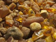 Raw amber Stock Photos