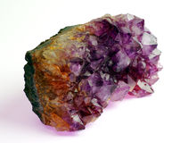Raw amethyst Royalty Free Stock Photos