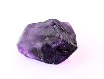 Raw amethyst brazilian rock isolated Royalty Free Stock Images