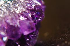 Raw Amethyst druse Stock Images