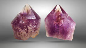 Raw Amethysts Stock Images