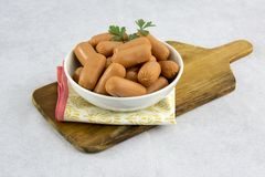 Raw aperture sausages stock image
