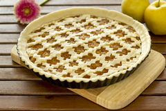 Raw apple pie Royalty Free Stock Photos