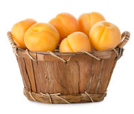 Raw apricots in a basket Royalty Free Stock Photo