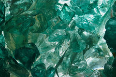 Raw aquamarine glass Stock Photo