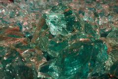 Raw aquamarine glass Stock Images