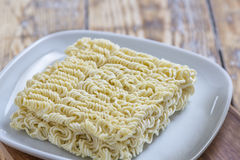 Raw Asian Noodles on plate Stock Photography
