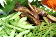 Raw asian vegetables Stock Photos