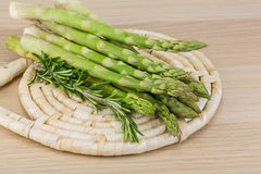 Raw asparagus Stock Images