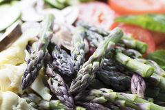 Raw Asparagus Tips Stock Image