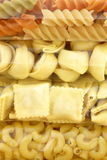 Raw assorted and delicious packaged  pasta Royalty Free Stock Photo